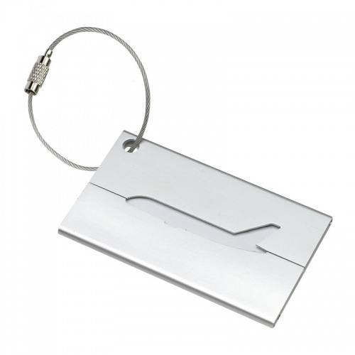 Engraved Aluminum Airplane Luggage Tag