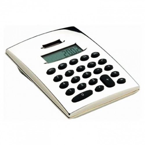 Engraved Silver Plated Pocket Calculators