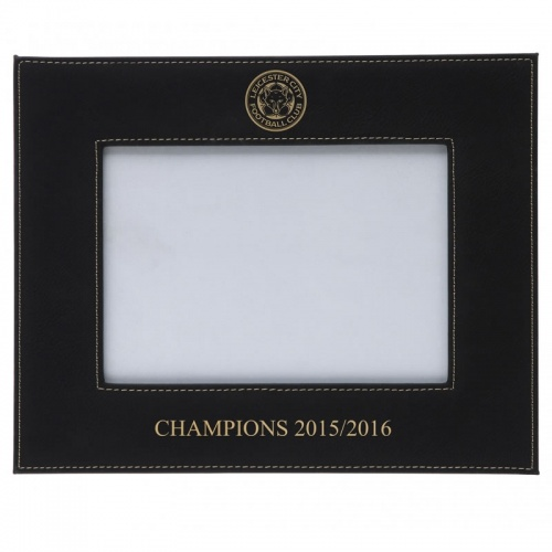 Personalised Black Leatherette 7x5in Photo Frame