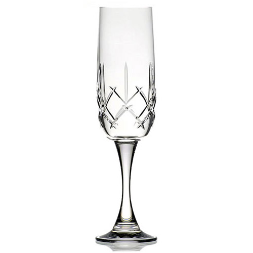 Engraved Crystal Champagne Flute in Presentation Box