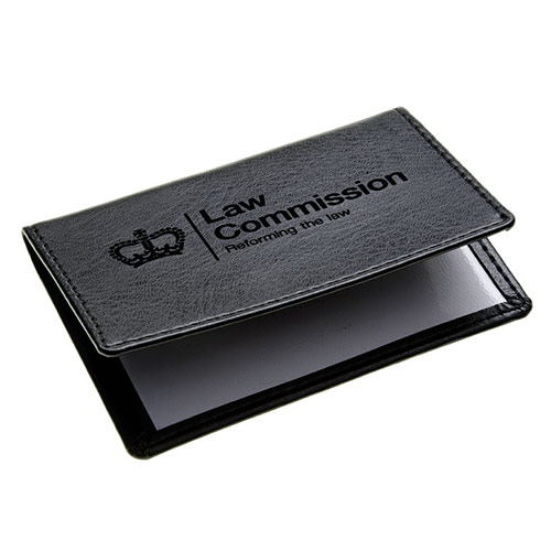 Engraved Leather Folding 2 Sleeve Card Wallet