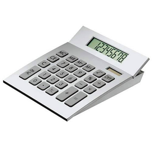 Engraved Desk Calculator with Curved Body