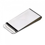 Engraved Silver Plated Money Clip