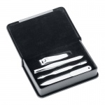 Personalised Travel Manicure Set in Leather Case