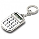 Engraved Silver Plated Keyring with Calculator