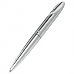 Engraved Silver Plated Small Twist Ballpoint Pen with Case