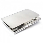 Engraved Silver Curved Business Card Cases