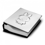 Engraved Silver Plated Photo Album with Bunny Cover
