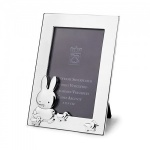 Engraved Silver Plated Photo Frame with Bunny and Ducks