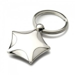 Engraved Nickel Plated Star Shaped Keyring