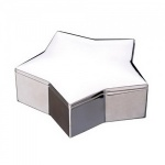 Engraved Silver Plated Star Shape Jewel Box