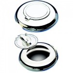 Engraved Silver Plated Pocket Ashtray