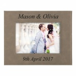 Personalised Leatherette 8x10in Photo Frame