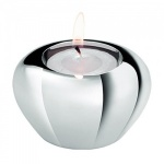 Engraved Silver Plated Bulb Shape Tea Light Holder