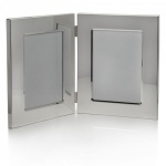 Engraved Silver 5x7in Portrait Double Photo Frames
