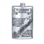 Pewter Golf Flask - St. Andrews