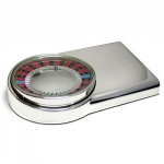 Engraved Silver Plated Roulette Game Paperweight