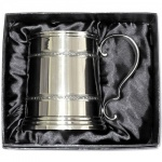 Engraved Cast Celtic Pewter Tankard in Presentation Box