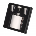 Personalised Stainless Steel Hip Flask & Cups Gift Set