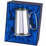 Engraved Silver Plated 1PT Tankard in Presentation Box