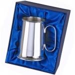Engraved 2 Line Silver Tankard with Presentation Box