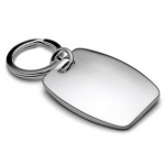 Engraved Nickel Plated Rectangle Shape Keyring