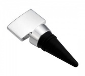 Engraved Tab Silver Plated Wine Bottle Stopper