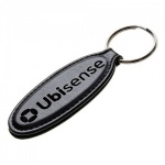 Engraved Leather Oval Key Fob