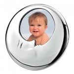 Engraved Silver Sleepy Moon Photo Frame