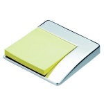 Engraved Silver Plated Sticky Notes Holder