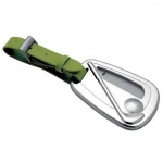 Engraved Silver & Green Leather Golf Luggage Tag