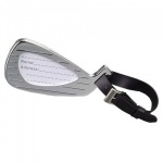 Engraved Silver Plated Golf Club Luggage Tag