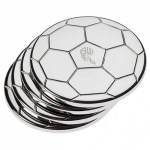 Engraved Set of 4 Silver Plated Football Coasters