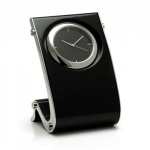 Engraved Black Gloss Finish Wave Design Clock