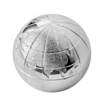 Engraved Silver Plated Globe with Presentation Box