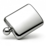 Engraved 6oz Stainless Steel Hip Flask with Ball Cap