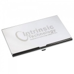 Engraved Chrome Plated Business Card Holder