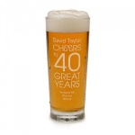 Personalised Beer Glass - Cheers to 40 Great Years