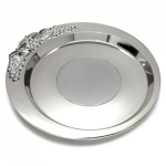 Engraved Silver Plated Wine Bottle Coaster