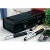 Leatherette Twin Pen Set with Case