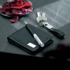 Personalised Gift Set with Leather Wallet, Pen & Keyring