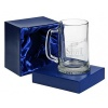Engraved Plain Crystal Pint Glass in Presentation Box