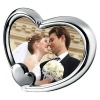 Engraved Silver Plated Heart Shape Photo Frame