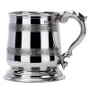 Engraved Cast Pewter Pint Tankard with Celtic Design