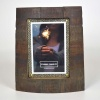 Whisky Barrel Photo Frame Chime 4x6in
