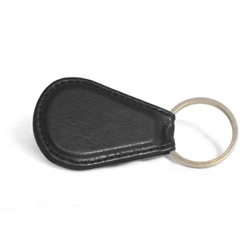 Personalised Leather Teardrop Key Fob