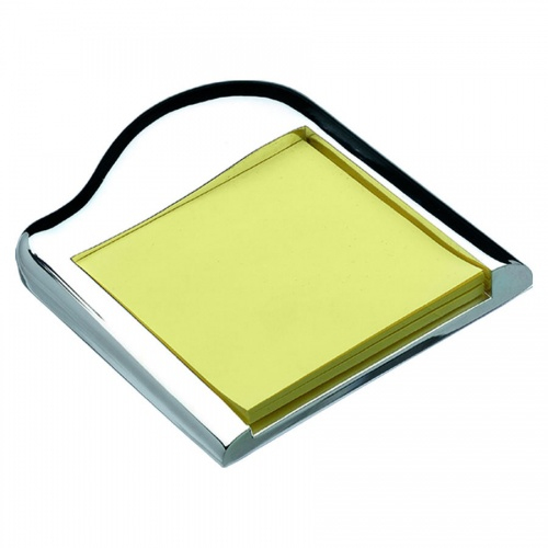 Engraved Silver Plated Post-It Notes Holder