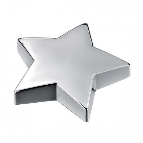 Engraved Silver Plated Star Paperweight