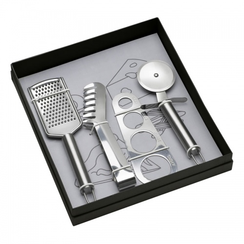 Engraved Stainless Steel Pasta Set in Presentation Box