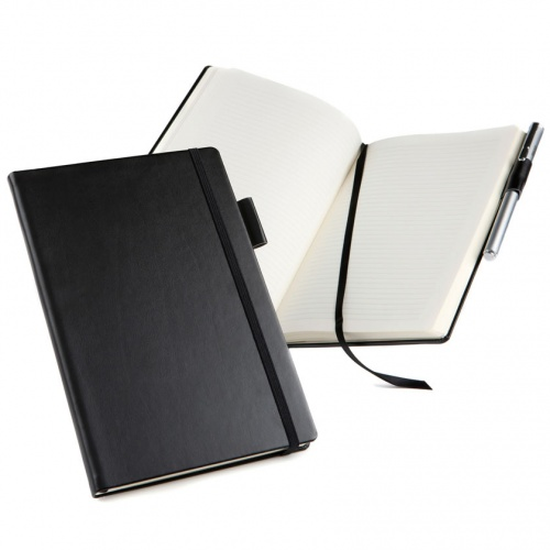 Personalised Belluno Leather A5 Casebound Notebook